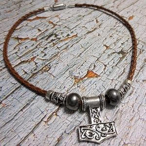 www.SaberShores.com Accessories - 3/$100 Mjolnir FAUX Leather THORS HAMMER Necklace